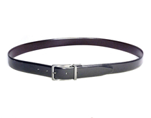 AF-176 Mens black leather formal belt