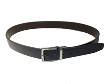 AF-150 Mens black leather formal belt