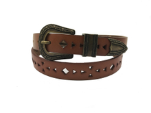 AF-062 Womens brown fashionable designer belt with buckle