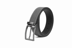 LA1182 Men Gray Casual Belt with Pin Buckle