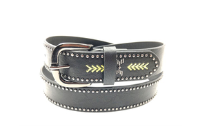 Women western belt with rivet and embroidery AFL71067