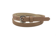 AF-115 Womens adobe brown thin belt with buckle