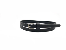 AF-112 Womens fashion black thin leather belt