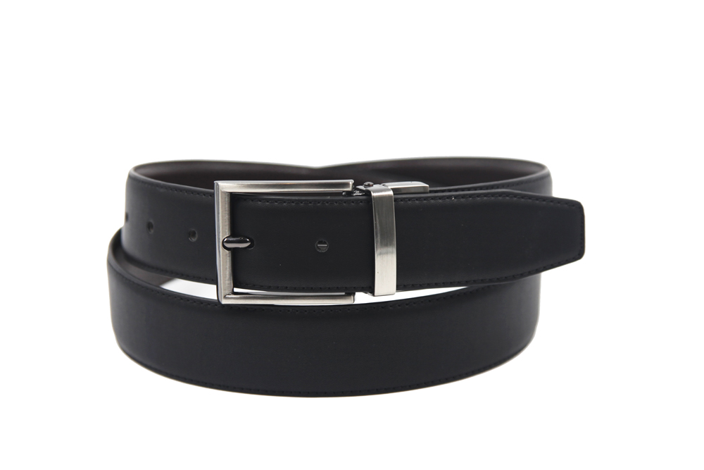 AFM7003 Mens black leather casual jeans belt