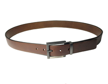AF-163 Mens brown dress belt with buckle