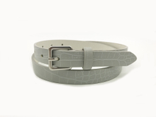 AF-083 Womens white leather beauty belt