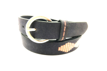 Black suede fashion leather belt for women AFL71060