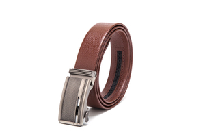 AFM7206 Men Brown High Quality Leather Belt with Automatic Buckle