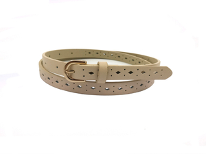 AF-075 Womens high quality white leather beauty belt