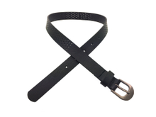 AF-054 Boys Black PU New Designer Cheap Belt with Buckle