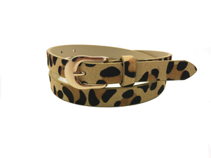 AF-090 Womens fashion belt with gold buckle