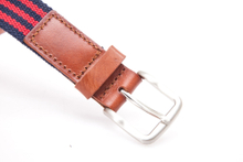 AFM7057 Mens Genuine Leather Cotton Belt with Pin Buckle