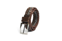 AF-200 Mens braided leather belt with buckle