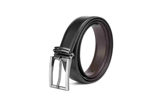 LA1008 2017 Nice Black Leather Belt for Men